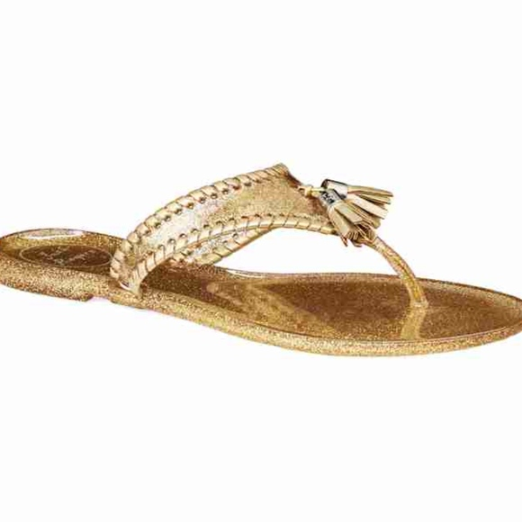 1c429f3105bdf Jack Rogers Shoes - Jack Rogers Sparkle Georgica Jelly Gold Sandals 8M